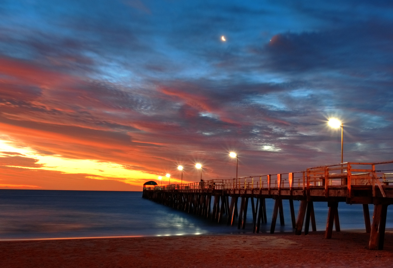 Sunset Jetties & Beaches Tour Adelaide Henley Beach Jetty